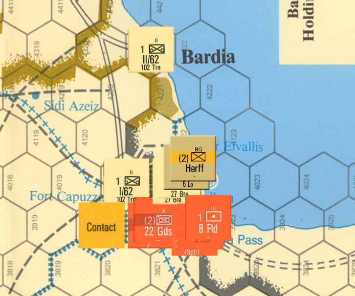 Zoomed in view of area around Tobruk, showing CNA Counters